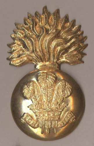 ROYAL WELSH FUSILIERS OR'S Glengarry badge g/m
