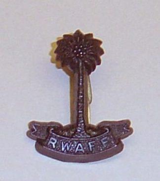 R.W.A.F.F. plastic cap badge