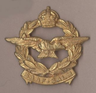 S. A.A.F. - S.A.L.M., KC OR/s cap badge g/m