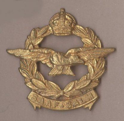 S. A.A.F. - S.A.L.M., KC OR/s cap badge g/m