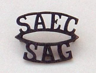 S.A.E.C. S.A.G two-line bronzed s/t