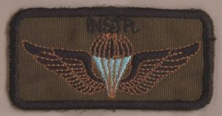SA 'INSTRUCTOR' embroidered black on Nutria wings
