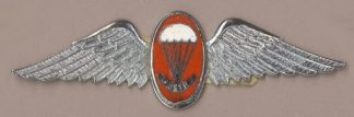 SA 'INSTRUCTOR' WING red enamel silver wings