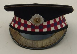 SCOTS GUARDS OFFICERS PEAK CAP - Staff rank & badg