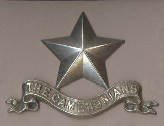 SCOTTISH RIFLES (CAMERONIANS) Pipers Badge w/m