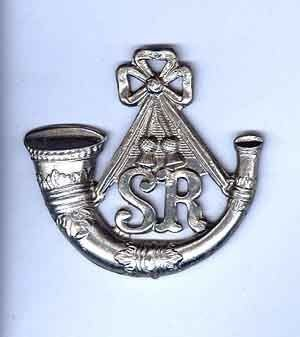 SCOTTISH RIFLES (CAMERONIANS) PIPERS/FEATHER BONNET BADGE