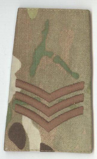 SERGEANT - multicam camouflage rank slide