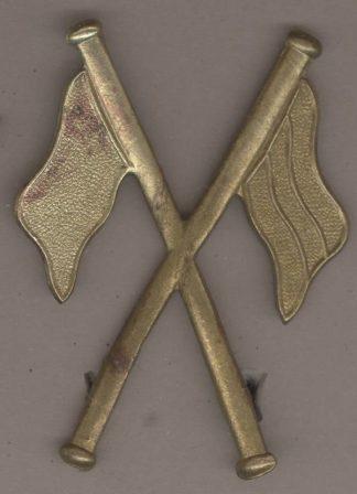 SIGNALLER - CROSSED FLAGS - gilding metal