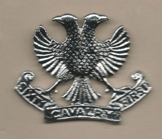 SIXTY FIRST CAVALRY nickel plated cap badge