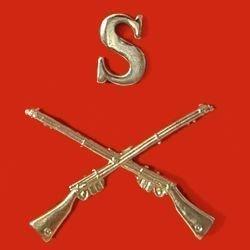 SNIPER 's' over crossed rifles