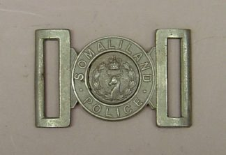 SOMALILAND POLICE QC nickel interlocking belt buck