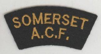 SOMERSET C.C.F. cloth s/t  embroid. yellow/black