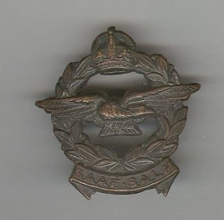 SOUTH AFRICAN AIR FORCE KC o/r's cap badge bronzed