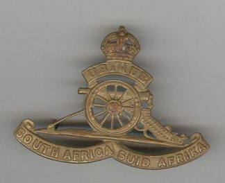 SOUTH AFRICAN ARTILLERY O/R's g/m fixed wheel cap badge