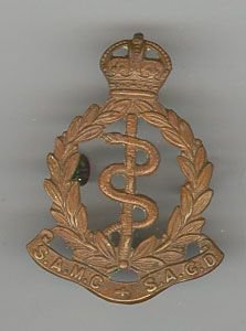 SOUTH AFRICAN MEDICAL CORPS KC, g/m cap badge