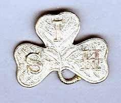 SOUTH IRISH HORSE w/m cap badge