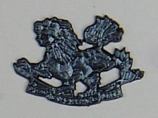 SPECIAL FRONTIER FORCE black OR's cap badge