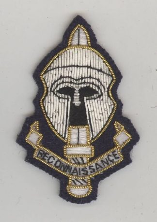 ECIAL RECONNAISANCE REGT. EMBROIDERED CAP BADGE