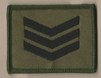 AFF SERGEANT embroidered black on green patch