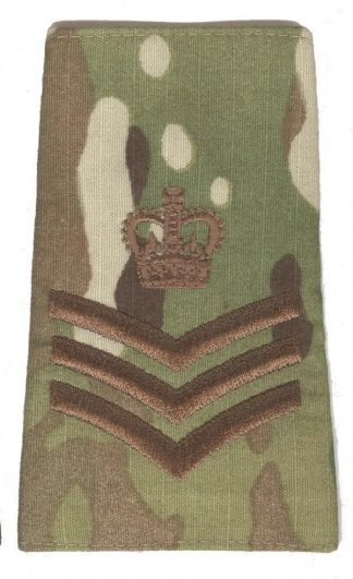 STAFF SERGEANT - MULTICAN camouflage rank slide