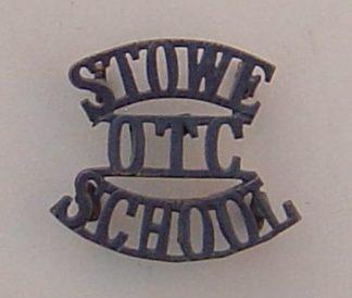 STOWE SCHOOL O.T.C. blacked 3-line shoulder title