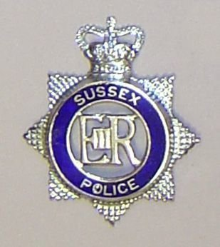 SUSSEX POLICE QC chrome blue ring enamel STAR