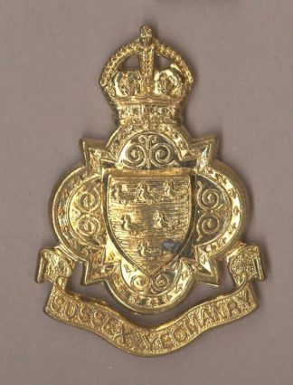 SUSSEX YEOMANRY KC g/m cap badge