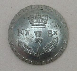 SUTHERLAND VOLUNTEERS 15.5mm Pewter button