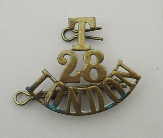 T-28 - LONDON 3-line brass title