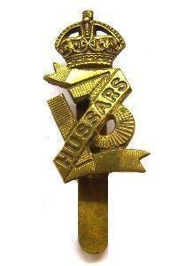 13th HUSSARS - KC OR's g/m 'Forage' cap badge 1903-1922 pattern (re-strike)