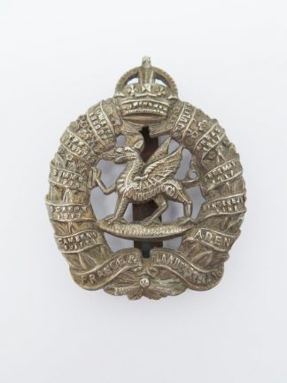 1st MONMOUTHSHIRE REGIMENT - KC O.R.'S w/m cap badge 1922-1946 pattern (re-strike)