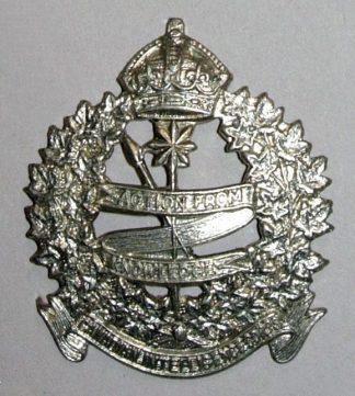 CANADIAN INTELLIGENCE CORPS KC nickel cap bdg