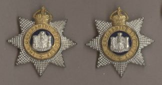 HE DEVONSHIRE REGIMENT' KC silver plate pair