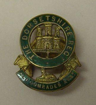 DORSETSHIRE REG. OLD COMRADES ASSN. gilt green