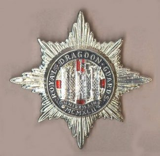 DRAGOON GUARDS OR's Sil.Pl.enamel cap badge