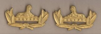 the GLOUCESTERSHIRE REGIMENT' gilt pair Officer's collar-dogs
