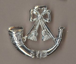 LIGHT INFANTRY silver plate Officer's c/b