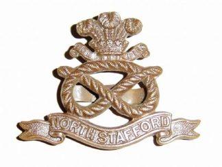 NORTH STAFFORDSHIRE REGIMENT O.S.D. cap badge