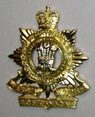 ROYAL REGIMENT OF CANADA QC bi metal