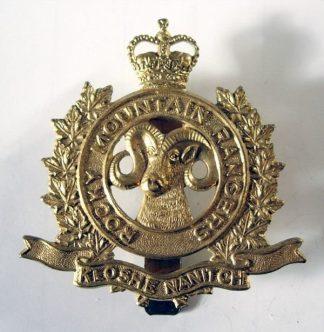 ROCKY MOUNTAIN RIFLES QC g/m cap badge