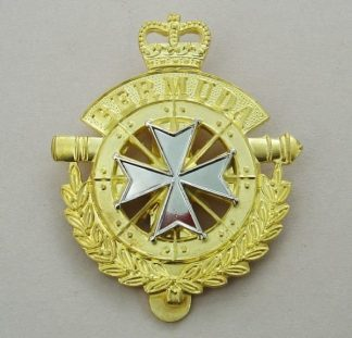 THE ROYAL BERMUDA REGIMENT QC bi/m cap badge