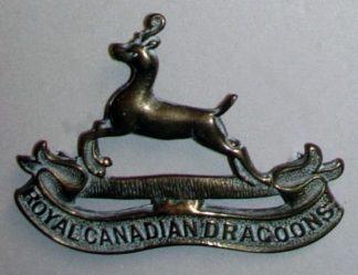 ROYAL CANADIAN DRAGOONS cap badge dark g/m
