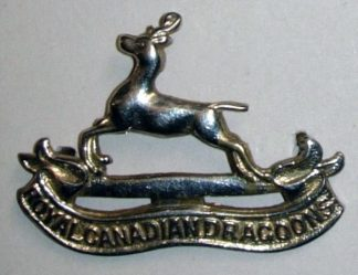 ROYAL CANADIAN DRAGOONS cap badge plated