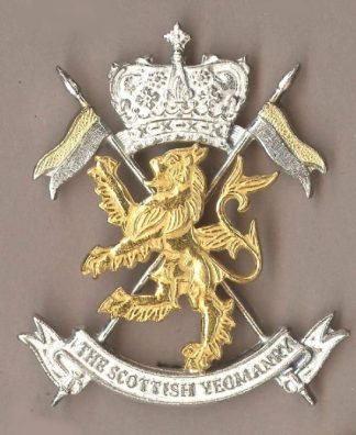 SCOTTISH YEOMANRY OR's gilt and sil.pl. c/b