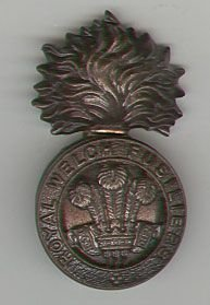 THE WELCH FUSILIERS O.S.D. Bronze cap badge