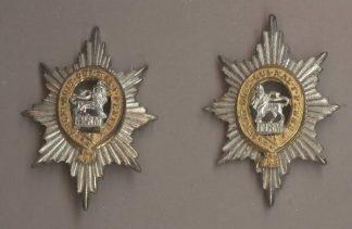 THE WORCESTERSHIRE REGIMENT' silver pl.gilt pair