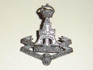 THE YORKSHIRE REGIMENT GREEN HOWARD's Officer Service Dress bronze cap badge