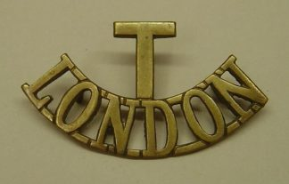 T-LONDON -2-line brass shoulder title