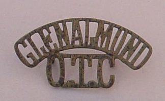 TRINITY COLLEGE GLENALMOND O.T.C. brass 2-line s/t
