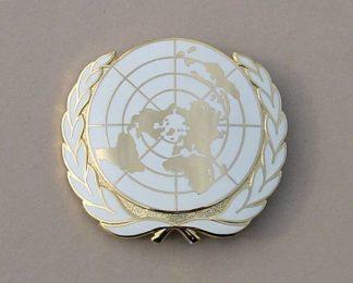 ITED NATIONS enamel Beret badge